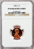 Proof Lincoln Cents, 1986-S 1C PR69 Red Ultra Cameo NGC. NGC Census: (414/15). PCGSPopulation (2958/58). Numismedia Wsl. Price for problem fre...