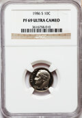 Proof Roosevelt Dimes: , 1986-S 10C PR69 Ultra Cameo NGC. NGC Census: (324/72). PCGSPopulation (2840/172). Numismedia Wsl. Price for problem free ...