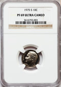 Proof Roosevelt Dimes: , 1975-S 10C PR69 Ultra Cameo NGC. NGC Census: (45/0). PCGSPopulation (3762/33). Numismedia Wsl. Price for problem free NGC...