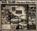 "Movie Posters:War, Wake Island (Paramount, 1942). Educational Poster (40"" X 30"").War.. ..."
