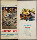 "Movie Posters:War, The Train & Other Lot (United Artists, 1965). ItalianLocandinas (2) (12.5"" X 27.5"" & 13"" X 27.5""). War.. ... (Total:2 Items)"