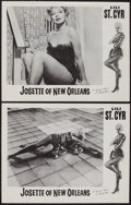 "Movie Posters:Sexploitation, Josette of New Orleans (Distributors Corporation of America Inc.,1958). Lobby Cards (2) (11"" X 14""). Sexploitation.. ... (Total: 2Items)"