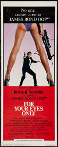 """Movie Posters:James Bond, For Your Eyes Only (United Artists, 1981). Insert (14"""" X 36"""").James Bond.. ..."""