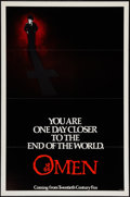 "Movie Posters:Horror, The Omen (20th Century Fox, 1976). One Sheet (27"" X 41"") Advance. Flat Folded. Horror.. ..."