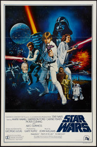 "Star Wars (20th Century Fox, 1977). One Sheet (27"" X 41"") Style C Flat Folded. Science Fiction"