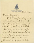 """Autographs:Military Figures, General George S. Patton Autograph Letter Signed. Three pages, 5.5"""" x 6.75"""", Fort Riley, Kansas, February 17, 1914. Addresse..."""