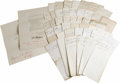 Autographs:Military Figures, The Civil War and Post Bellum Papers of Brevet Major General JohnC. Tidball (1825-1906). An excellent archive consisting of...