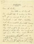 Autographs:Statesmen, Roy Owen West Autograph Letter Signed- Coolidge's Secretary of theInterior Rents a Cadillac! Two pages (1st and 3rd of an i...