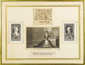"Autographs:Non-American, Marie Antoinette Autograph Note Signed.. One page, 3.5"" x 3.25"",np, nd. A gorgeous specimen, a holograph note, which is wri..."