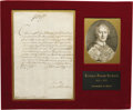 """Autographs:Non-American, Giussepe Cardinal Arcinto Autograph Letter Signed, """"G CardArcinto"""", one page, 7.75"""" x 11.25"""", Milan, Italy, May 2,1703..."""