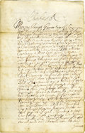 """Autographs:Non-American, King Charles II Document Signed, """"Charles R"""", 2 pages, 7.5""""x 11.75"""", Whitehall, London, June 8, 1670. It reads in small..."""