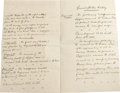 """Autographs:Military Figures, Charles G. """"Chinese"""" Gordon Archive. Four pieces. The archive includes two letters from General Gordon dated March 23, 1872 ... (Total: 4 )"""