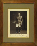 "Autographs:Non-American, Signed Photograph of Lord Kitchener in Full Military Dress. Blackand white photo, 10"" x 14"", np, nd. This handsome photogr..."