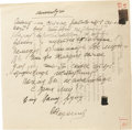 "Autographs:Non-American, Sergey Korolev Autograph Letter Signed ""S Korolev"". Onepage, 8.25"" x 8"", np, March 16, 1964. Russia's Von Braum, Korole..."