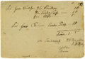 "Autographs:Celebrities, Felix Mendelssohn Document Signed ""Felix Mendelssohn"". Onepage, 8.25"" x 5.75"", np, nd. German composer, pianist, and co..."