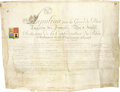 "Autographs:Non-American, Napoleon Bonaparte Document Signed ""Napoleon"", one page, 23"" x 17.5"", np, June 30, 1811. Nicolas Alexander Kasinouski, C... (Total: 2 )"