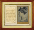 "Autographs:Non-American, Marie Louise Autograph Letter Signed""Louise"". One page,4.25"" x 6.75"", Sala Sweden, June 19, 1835. Written entirely in F..."