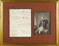 "Autographs:Military Figures, Horatio Nelson Manuscript Document Signed ""Nelson & Bronte"". One page, 7.5"" x 9.25"". H.M.S. Victory, August 17, 1804..."