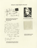 Miscellaneous:Ephemera, Lord Horatio Nelson: A Sample of His Hair, with Provenance from hisDaughter. Two substantial strands from the hair of the r...