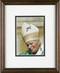 "Autographs:Non-American, Pope John Paul II Signed Photograph ""JP II"", 4"" x 6"", np,nd. Pope John Paul II has become even more of an iconic figure..."