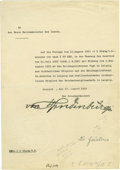 Autographs:Non-American, Franz von Papen writes to G. S. Viereck in 1915 as he is about toleave for Germany after being ordered to leave the USA for s...(Total: 2 )