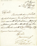 "Autographs:Non-American, King William IV Autograph Letter Signed, ""William"", onepage, 7.5"" x 9"", St. James, London, January 8, 1811 to Lord Boli..."