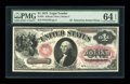 Large Size:Legal Tender Notes, Fr. 23 $1 1875 Legal Tender PMG Choice Uncirculated 64 EPQ....