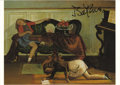 "Autographs:Artists, Balthazar ""Balthus"" Klossowski de Rola Signed Postcard. Signed:""Balthus"", 5.75"" x 4.25"", np, nd. This postcard features..."