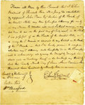 Autographs:Statesmen, Pair of Bank of the United States Documents Signed by Boudinot andBradford. Elias Boudinot and William Bradford, tw...
