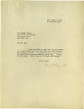 Autographs:Celebrities, Byrd's Chief Engineer Thomas B. Mulroy Archive of PersonalCorrespondence consisting of several dozen letters, notices, and...