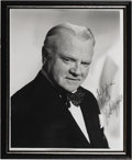 "Autographs:Celebrities, James Cagney Photograph Signed Black & White, 8"" x 10"", signedand inscribed, ""for Sylvia, Best, James Cagney"" Framed to..."