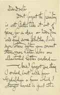 "Autographs:Artists, Frederick Church Autograph Letter Signed with Sketch Included. Signed: Yours Church, four pages, 5"" x 8"", np, nd. Writte..."