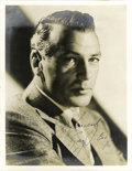 """Autographs:Celebrities, Gary Cooper Signed Photograph, 7"""" x 9"""". Excellent formal image ofCooper taken during his prime as one of Hollywood's most c..."""