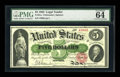 Large Size:Legal Tender Notes, Fr. 61a $5 1862 Legal Tender PMG Choice Uncirculated 64....