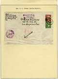 "Autographs:Celebrities, Amelia Earhart Address Panel. Envelope, 6.75"" x 4.5"", Los Angeles, California, April 12, 1937. Addressed in Earhart's hand a..."