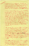"""Autographs:Celebrities, Katharine Hepburn Autograph Manuscript of her AutobiographyMe. 70+ pages, most measure 8.5"""" x 14"""", np, nd. KatharineHe..."""