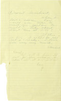 Autographs:Celebrities, Howard Hughes & Jean Peters Handwritten Notes- MentionsBaseball Game Through their years of marriage, Howard Hughes andJea...