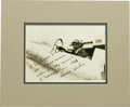 Autographs:Celebrities, Howard Hughes Signed Photo to Grover Whalen Re: 1939 New YorkWorld's Fair In 1935, during the height of the depression, sev...