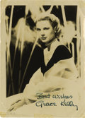 "Autographs:Celebrities, Grace Kelly Signed Photograph Black & White, 5"" x 7"", a classicshot circa 1955, blonde hair and a white pearl necklace defi..."