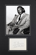 """Autographs:Celebrities, Martin Luther King Jr. Signature """"To Ray With Best Wishes MartinLuther King Jr."""" in ink on a 5.5"""" x 4"""" (sight size) alb..."""
