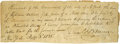 "Autographs:Inventors, Samuel F. B. Morse, 1836 Autograph Document Signed ""Saml: F. B.Morse"". One page, 4.25"" x 6.25"", New York, February 3, 1..."