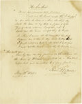 "Autographs:Inventors, Samuel F.B. Morse Autograph Signed Poem, ""The Sundial"", one page,8"" x 10"", May 13, 1845. Best known, of course, for inventi..."
