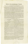 "Advertising:Paper Items, Article Arguing Henry O'Rielly's Right to Extend Telegraph Lines in the West. Eight pages, 6.5"" x 10.5"", presumably Philadel... (Total: 3 )"