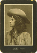 "Autographs:Celebrities, Excellent Annie Oakley Signed Photograph ""To Robert With KindWishes from Annie Oakley"" on back of photo, 7.5"" x 5 "" Wh..."