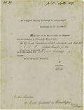 Autographs:Non-American, Danish Physicist Hans Christian Oersted 1847 Document Signed...