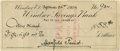 "Autographs:Artists, Maxfield Parrish Signed Personal Check. Maxfield Parrish,6.25"" x 2.75"", np, September 24, 1904. Written in his hand and..."