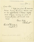 "Autographs:U.S. Presidents, Abraham Lincoln Document Signed ""Abraham Lincoln."" 13.8"" x17"", one page printed document, signed by both the president ..."