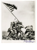 "Autographs:Military Figures, Joe Rosenthal Signed ""Iwo Jima"" Photograph. Black and white, 8"" x10"", signed in the bottom margin adding ""Mt. Suribachi, ..."