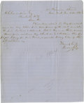 "Autographs:Non-American, Winston Churchill 1910 Typed Letter Signed ""Winston S. Churchill"" as Home Secretary. One page, 5"" x 8"", Home Office, Whi..."