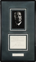 Music Memorabilia:Autographs and Signed Items, Jean Sibelius Signed Letter (1945). Finnish composer Jean Sibeliuswas best known for his work in his native country. Here i...
